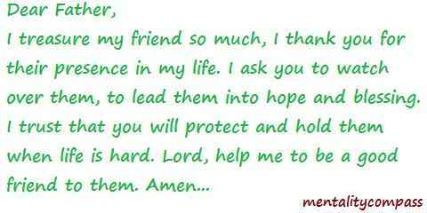 prayer for best friend