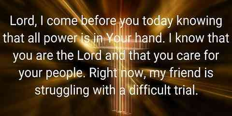 prayer for strength during difficult times for a weak friend